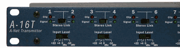 Aviom - A16T-Left Front Panel -Musician independent monitor mixing for each input device or component