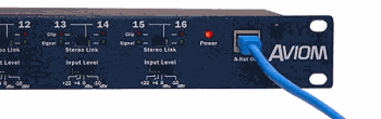Aviom - A16T Right From Panel-Instant recall of multiple monitor mixes for each performer