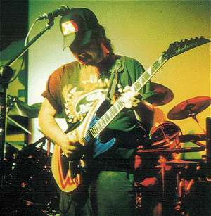 Steve Vinson of Overdrive Productions Jams With Dimebag Darrell Abbott at Sharkey's in 1996