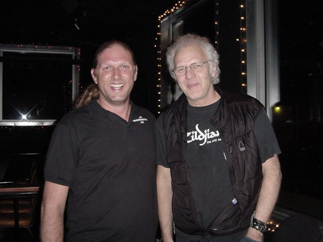 Steve Vinson with Paul Dean from Loverboy.